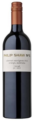 Philip Shaw No. 5 Cabernet Sauvignon 2015 (6x 750ml), Orange NSW. Screwcap