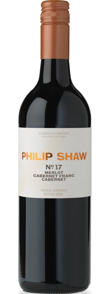 Philip Shaw No. 17 Cabernet, Cabernet Franc, Merlot 2018 (6x 750ml), NSW.