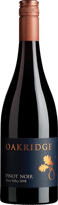 Oakridge YV Pinot Noir 2018 (6x 750ml), ), Yarra Valley, VIC. Screwcap