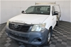 2012 Toyota Hilux Workmate TGN16R Manual Cab Chassis