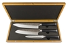 Laguiole by Louis Thiers Artisan 3 - Piece Kitchen Knife set in Bamboo Box
