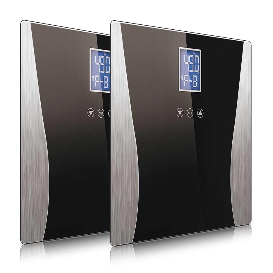 SOGA 2x Digital Body Fat Scale Black