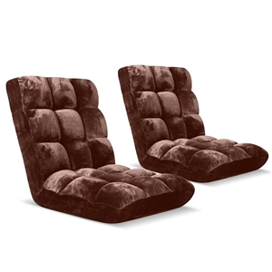SOGA Floor Recliner Folding Lounge Sofa