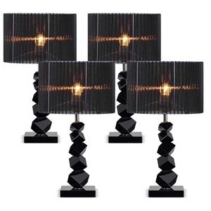 SOGA 4X 55cm Black Table Lamp with Dark