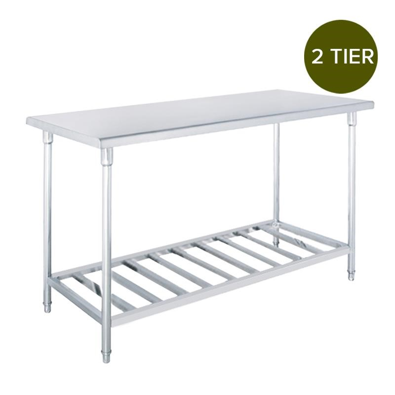 SOGA Commercial Catering Kitchen S/S Prep Work Bench Table 150*70*85cm