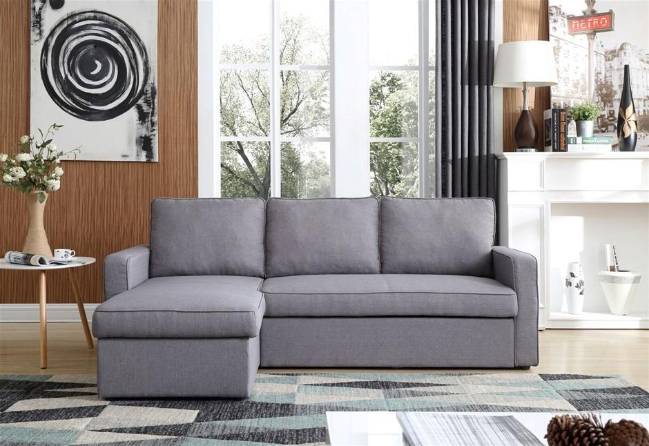Yarra Corner Sofa Bed Grey