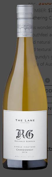 The Lane Reginald Germein Chardonnay 2016 (6x 750mL), SA