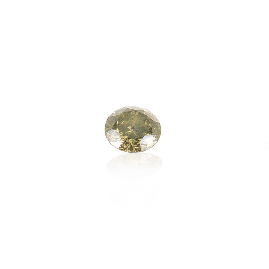 0.07ct Olive Diamond