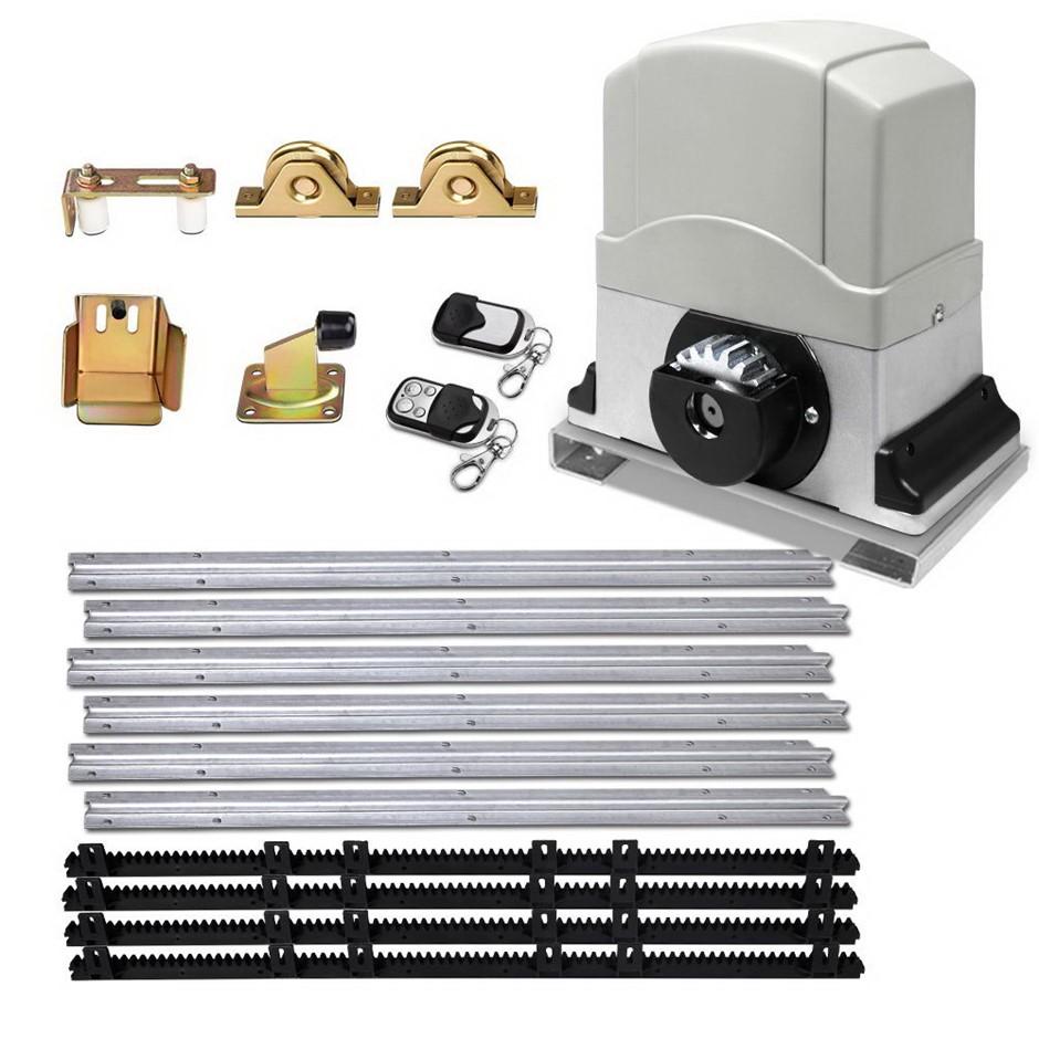 LockMaster Electric Sliding Gate Opener 1200KG Hardware Remote 4M