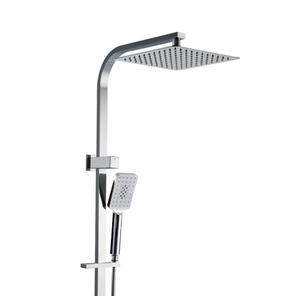 "Cefito WELS 10""Rain Shower Head Set Square Dual Head Faucet Hand Held"