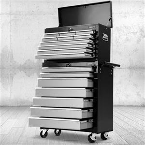 Giantz 17 Drawer ToolBox Trolley Chest C