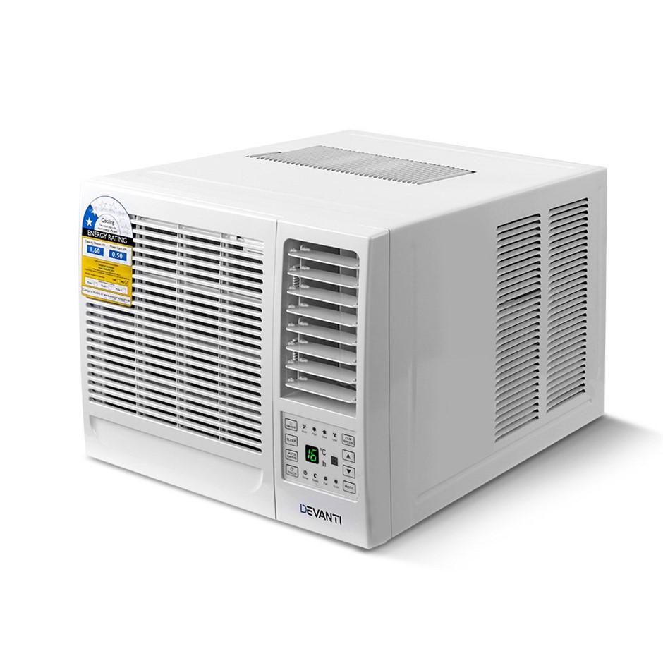 Devanti Window Wall Box Air Conditioner 1.6kW - White