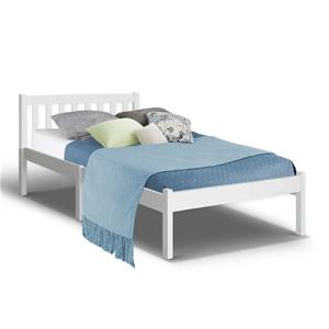 Artiss Single Wooden Bed Frame Pine Timb