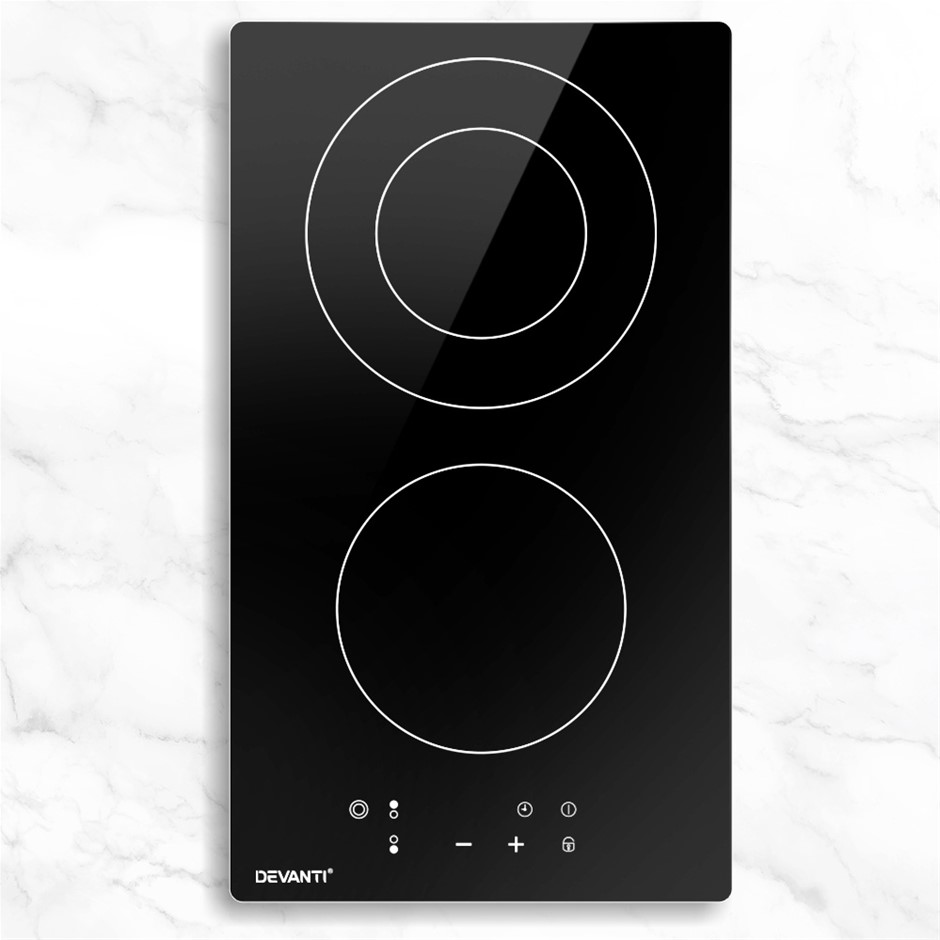 Devanti Electric Ceramic Cooktop 30cm Kitchen Cooker