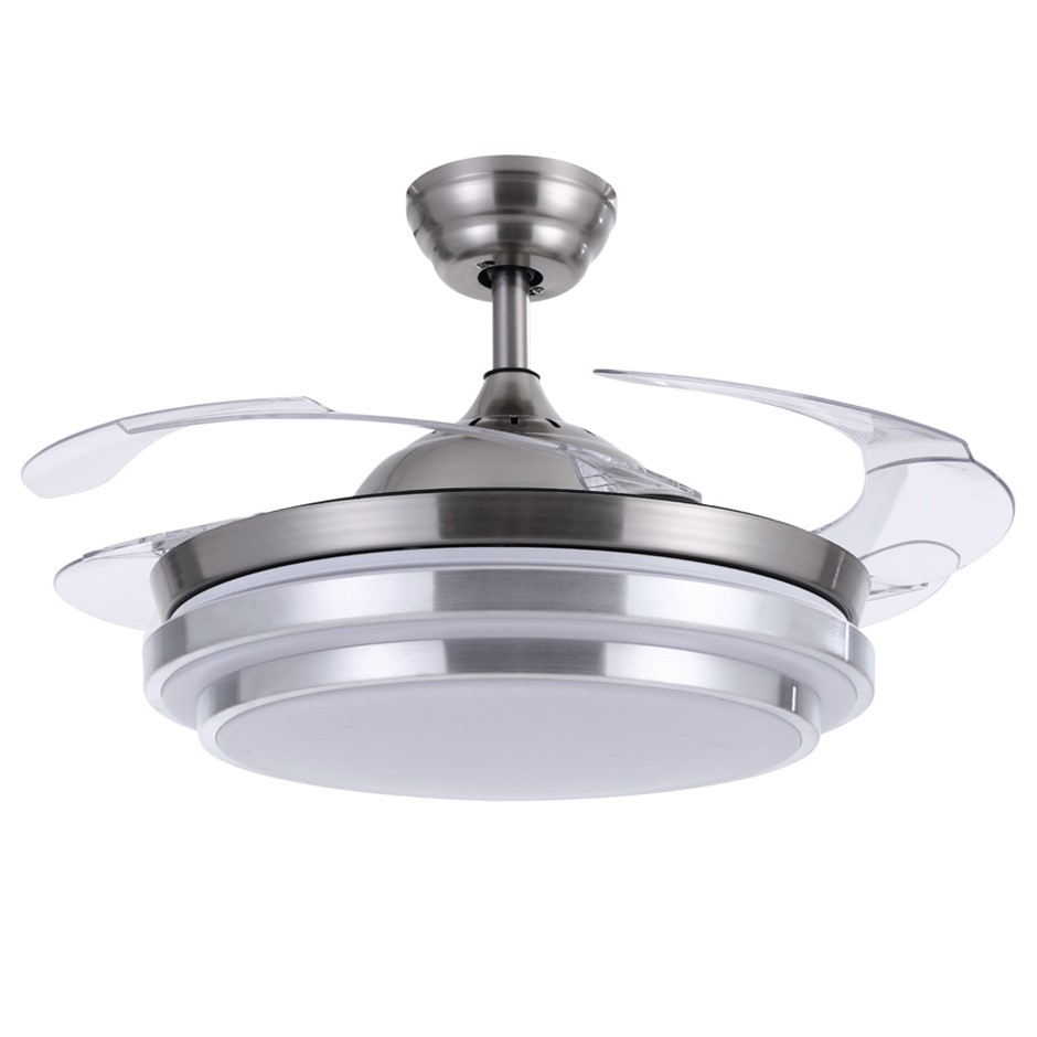 42'' Ceiling Fan Lamp LED Light Retractable Blade Ceiling Fan w/Remote