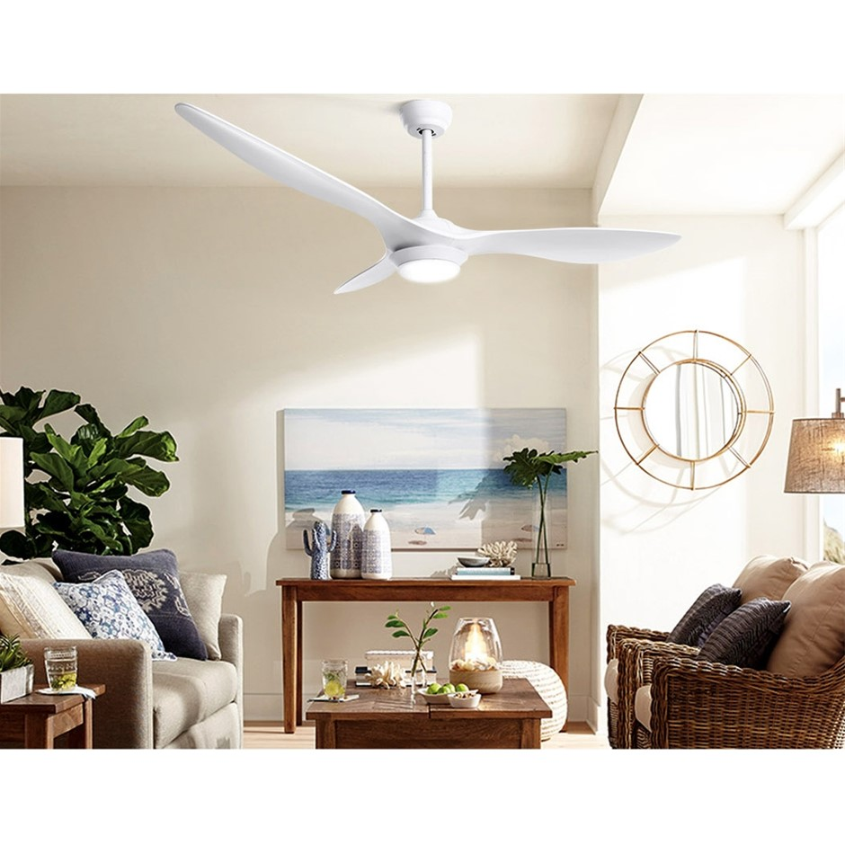 52'' DC Motor Ceiling Fan w/LED Light w/Remote 8H Timer