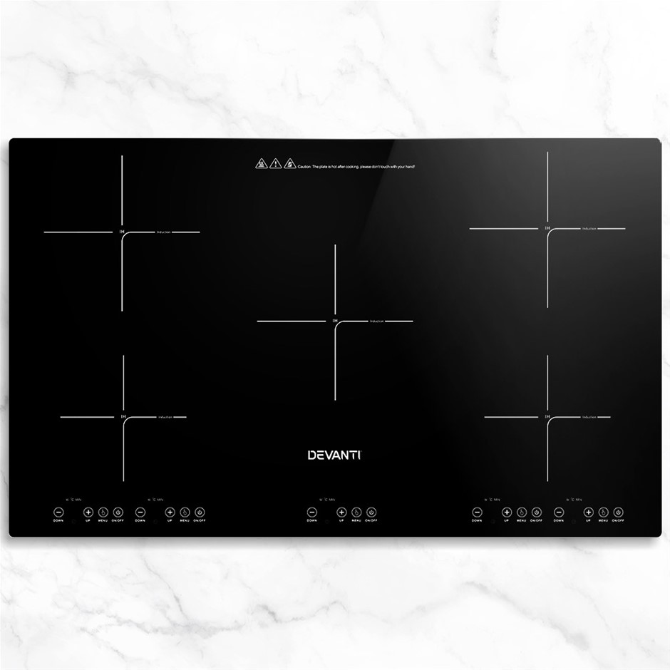 Devanti Induction Cooktop 90cm Electric Hob Stove Cooker Ceramic Glass