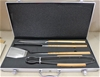 Laguiole by Louis Thiers Artisan 4-Piece BBQ Set with bamboo handle