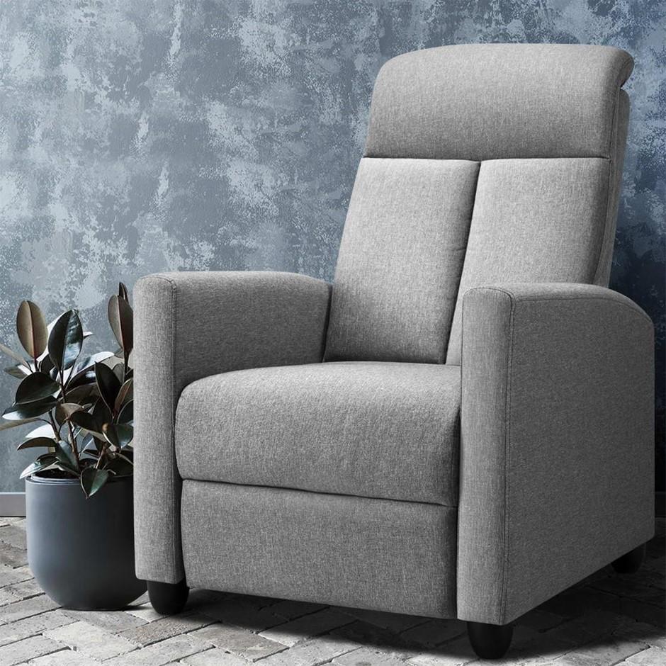 Artiss Recliner Chair Luxury Lounge Sofa Single Armchair Padded