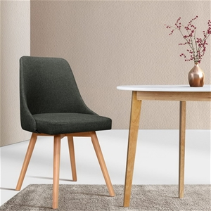 Artiss 2x Replica Dining Chairs Beech Wo