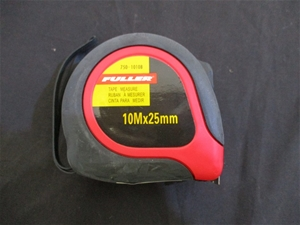 Qty 6 x Fuller 10m x 25mm Tape Measure
