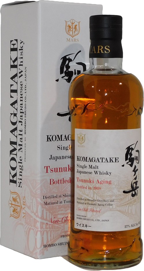 Mars Komagatake Tsunuki Aging Single Malt Japanese Whisky 2018 (1x 700mL)