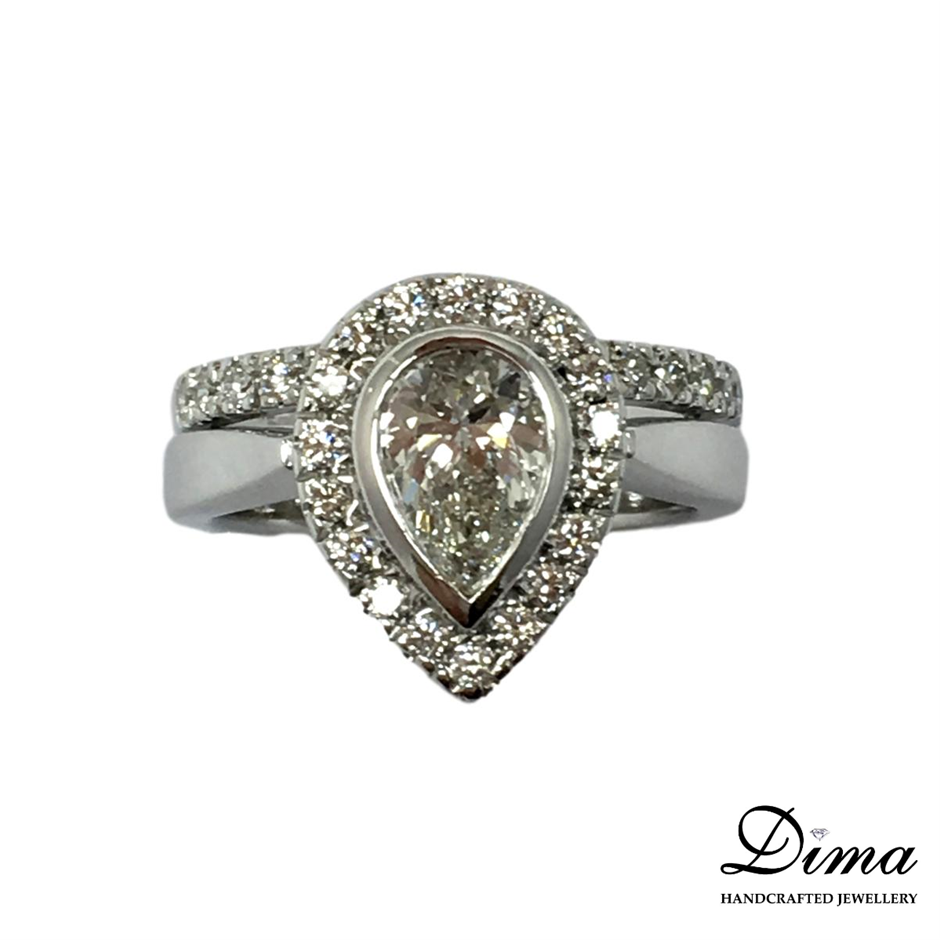 18ct White Gold, 1.75ct Diamond Engagement Ring