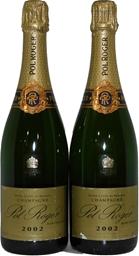 Pol Roger Blanc de Blancs Champagne 2002 (2x 750mL), France. Cork.