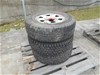 Set of 3 x 6 Stud Toyota Wheel Rims with tyres LT225/75R16