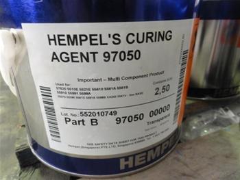 22 Tins Of Hempels Curing Agent 97050 Part B 2 5ltr Tins