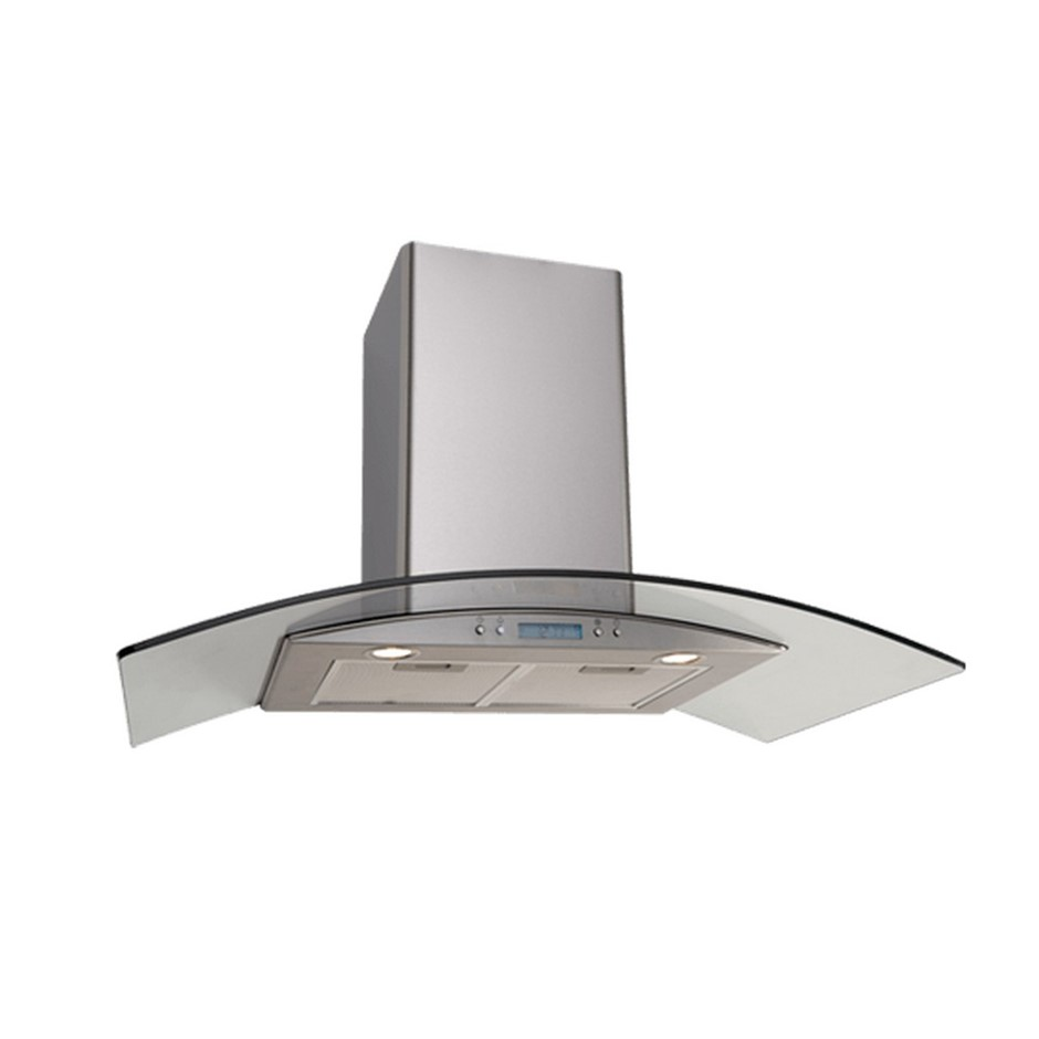 Euro 90cm Glass Canopy Rangehood, Model: EAGL90SX