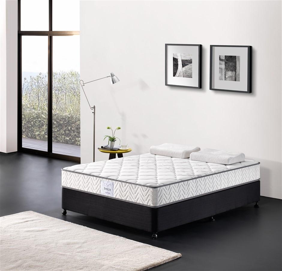 Breeze Queen Mattress Bed Pocket Spring Comfort Firm 24cm High Density