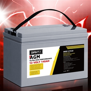 Giantz 140Ah Deep Cycle Battery 12V AGM