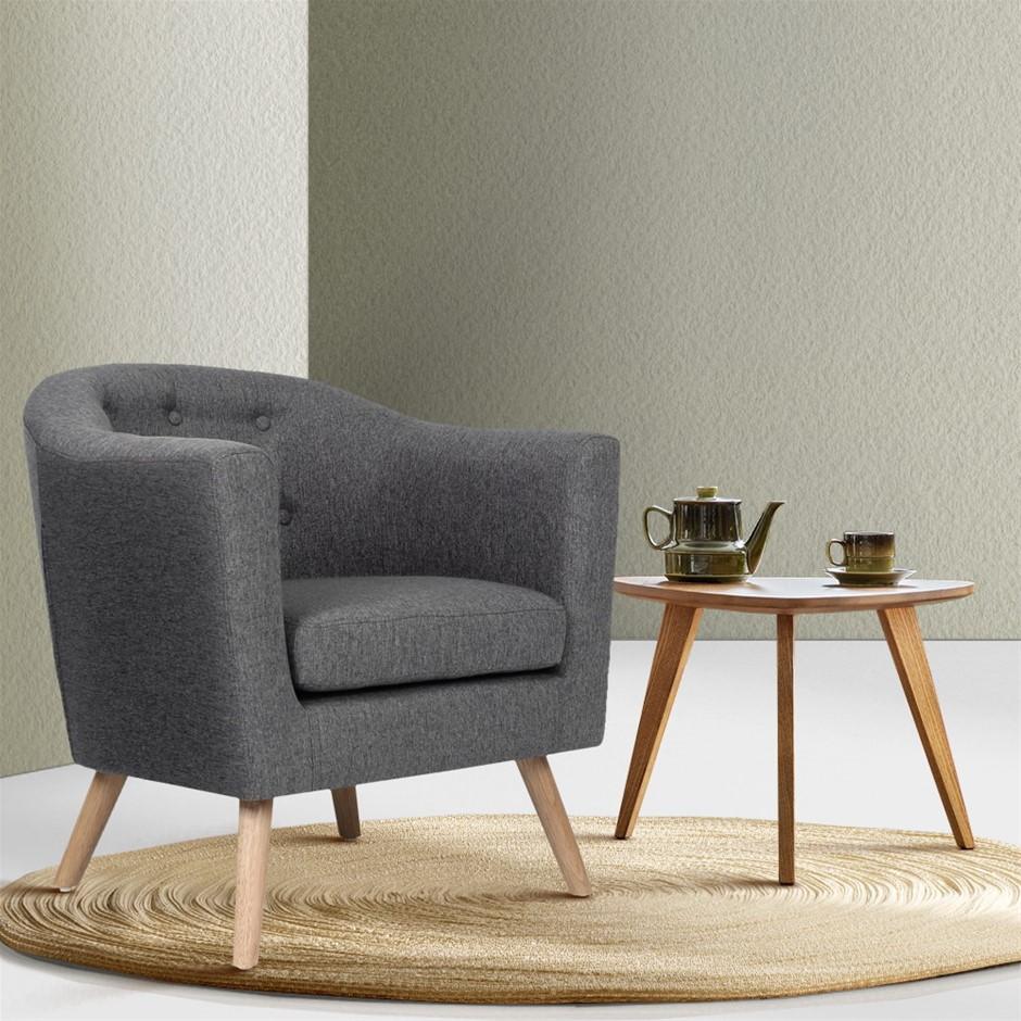 Artiss ADORA Armchair Tub Chair Single Accent Armchairs Sofa Lounge Grey
