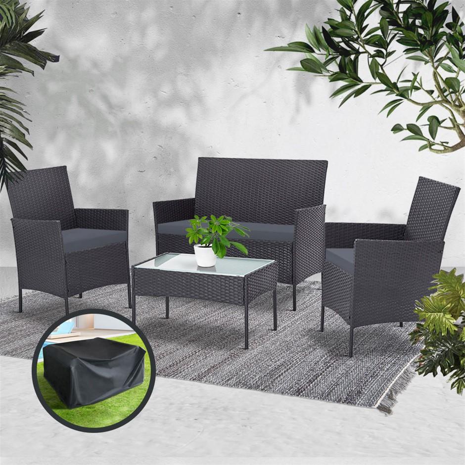 Gardeon Garden Furniture Outdoor Lounge Setting Wicker Sofa Patio Storage