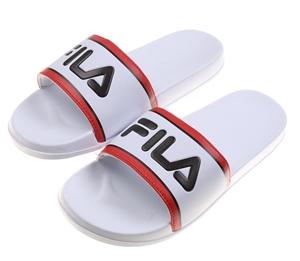 FILA Unisex Heritage Logo Slides, Size 4