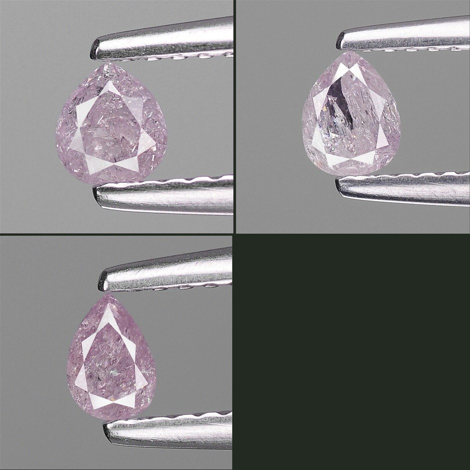 Three Loose Diamond, 0.63ct in Total