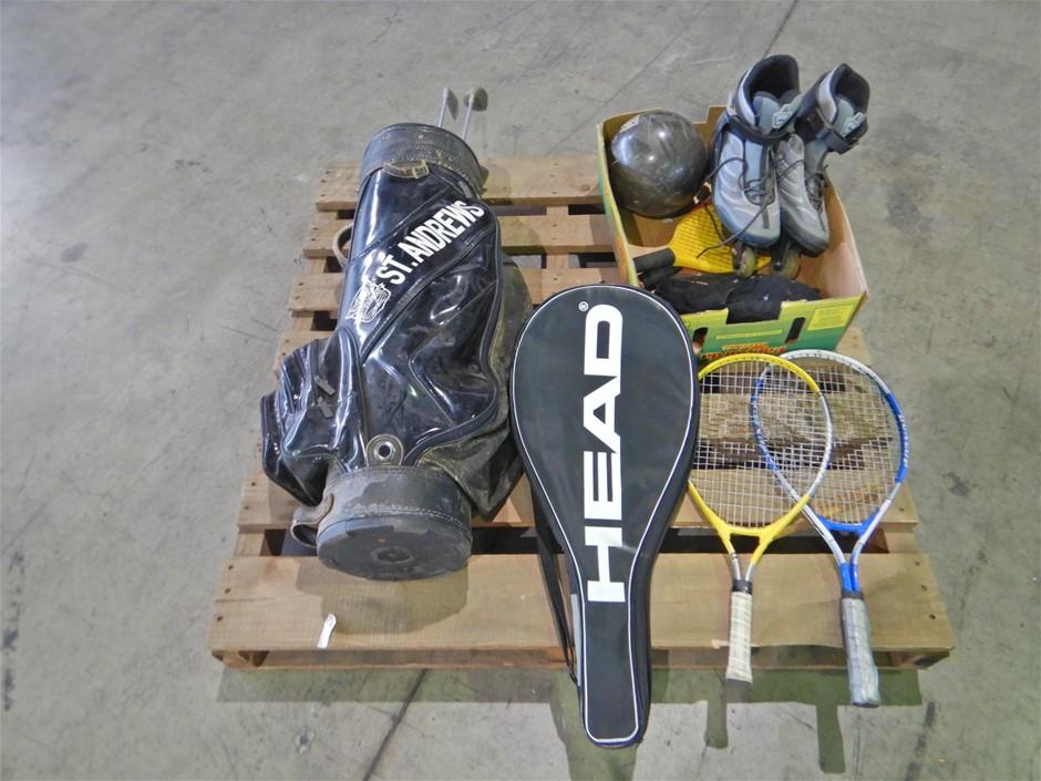 Roller Blades, Bowling Ball, Golf Clubs & Tennis Raquets (Pooraka, SA)