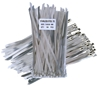 100 x Stainless Steel Cable Ties, 7.9mm x 250mm. Buyers Note - Discount Fre