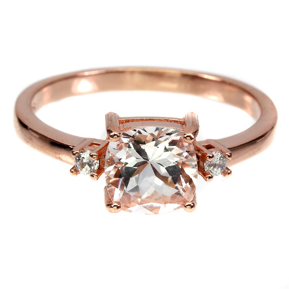 Stunning Genuine Morganite Ring
