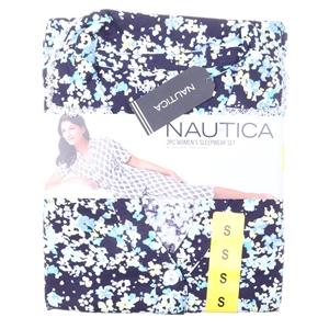 NAUTICA Women`s 2pc Button- Front Capri