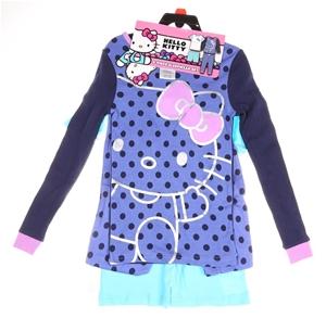 Hello Kitty 4pc Sleepwear Set, Size 3T.