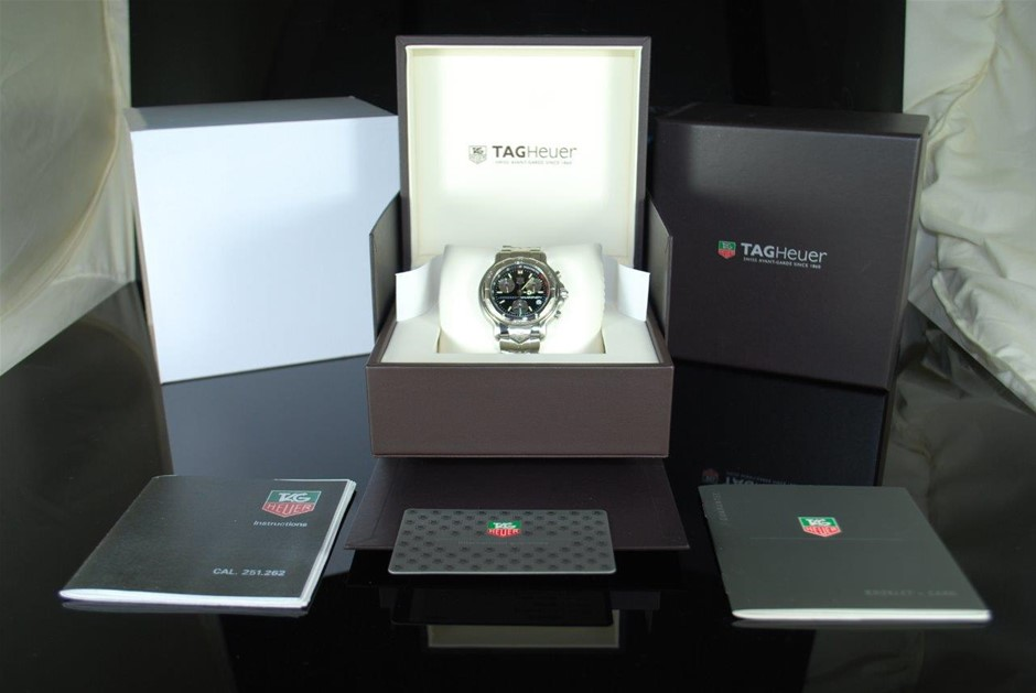 Authentic Gents Tag Heuer 6000 Series Mika Hakkinen Signed Limited Edition