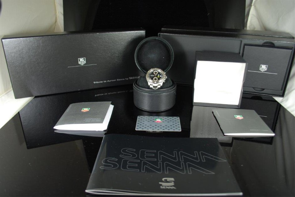 Authentic LINK series Chronograph 1/10th Gents TAG Heuer SENNA Limited Ed