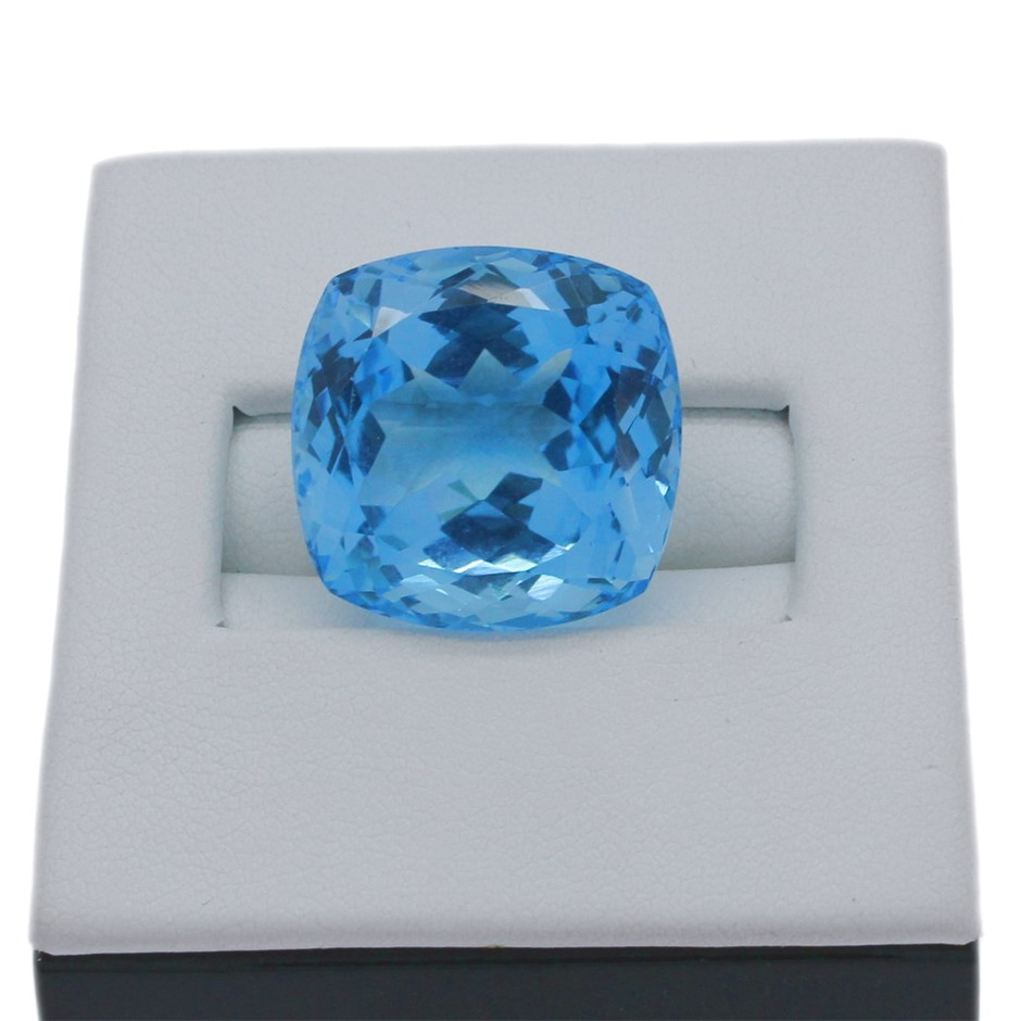 One Loose Blue Topaz, 43.60ct in Total