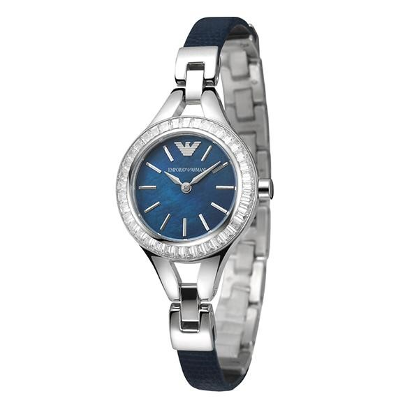 Stunning New Emporio Armarni Blue Mother Of Pearl Watch