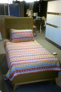 Single Fabric bed with australian Made S