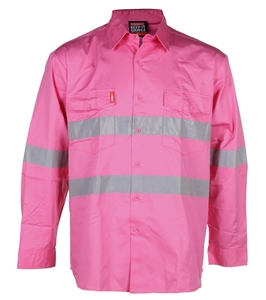 3 x STUBBIES Cotton Drill Shirts, Size 2