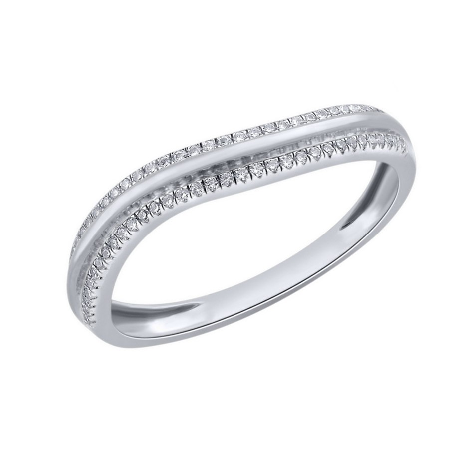 9ct White Gold, 0.09ct Diamond Ring