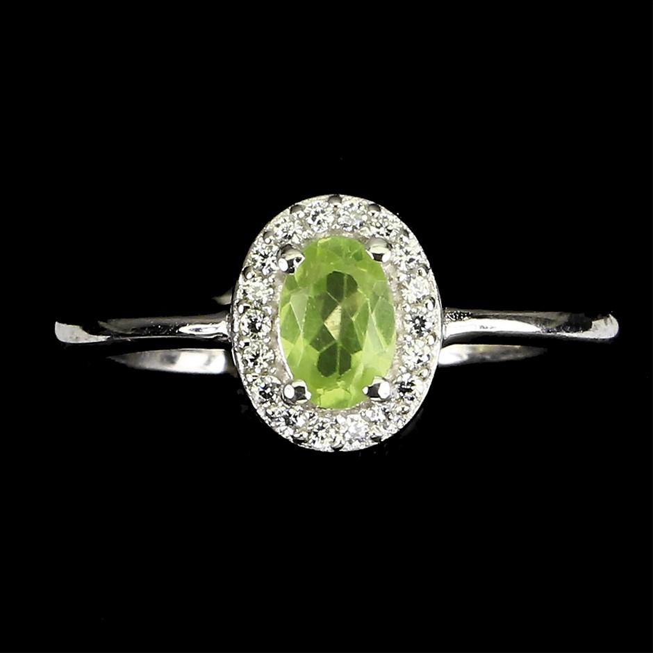 Beautiful Genuine Peridot Ring